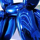Blu Balloon Poodle by CallinoisArt
