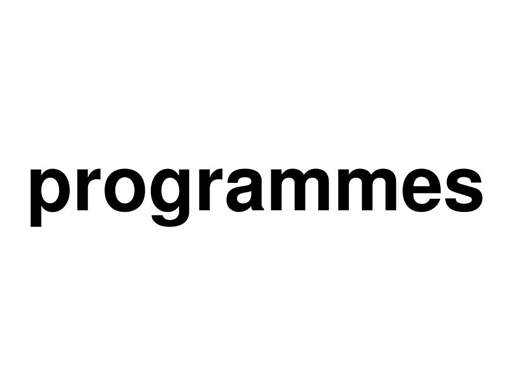 programmes by ninov94