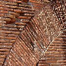 Wall Pattern in Colosseum, Rome by Indrani Ghose