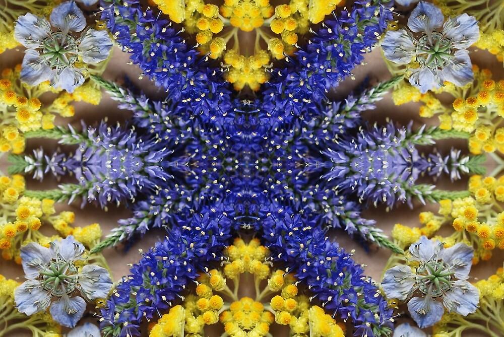 flower mosaic by TJHinako