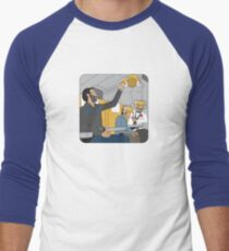 Telecom Short Round Men's Baseball ¾ T-Shirt