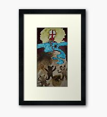 Ugly blond Framed Print
