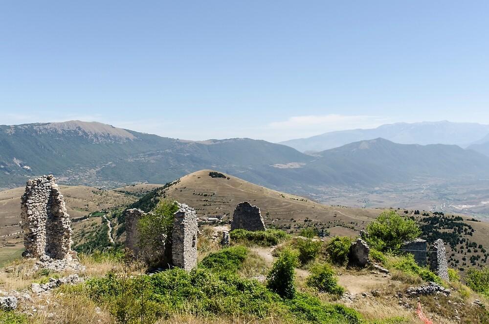 Italy - Panorama from Rocca Calascio by Andrea Mazzocchetti