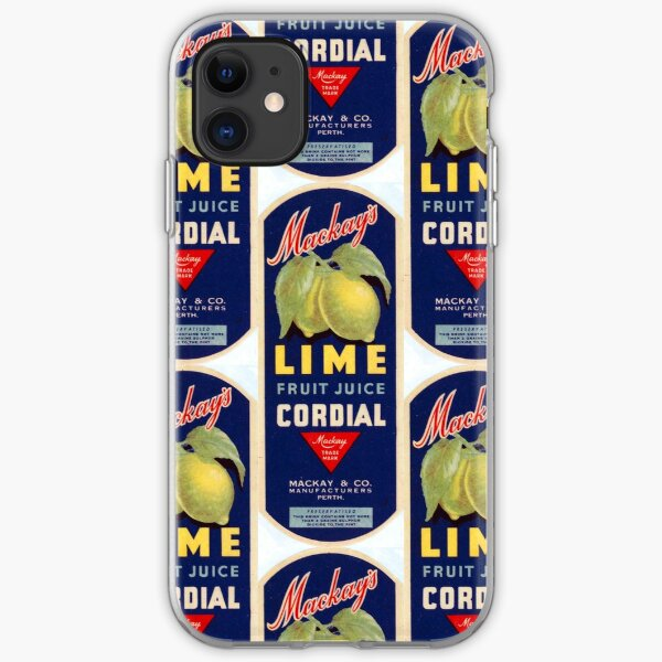 Mackay's Lime Fruit Juice Cordial State Library of Western Australia iPhone Soft Case