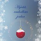 Kaunis Joulutervehdys Sininen Teema by hurmerinta