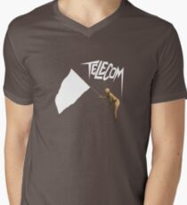 Telecom Surrender To Technology Men's V-Neck T-Shirt