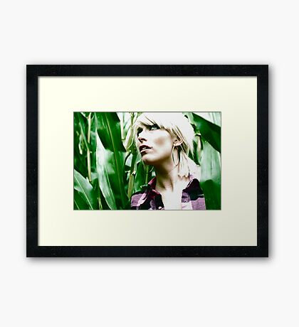 Fear of corn Framed Print