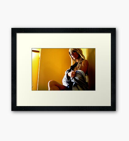 office seductress Framed Print