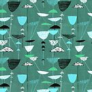 1950s Fabric Design #9 by ShaMiLaB