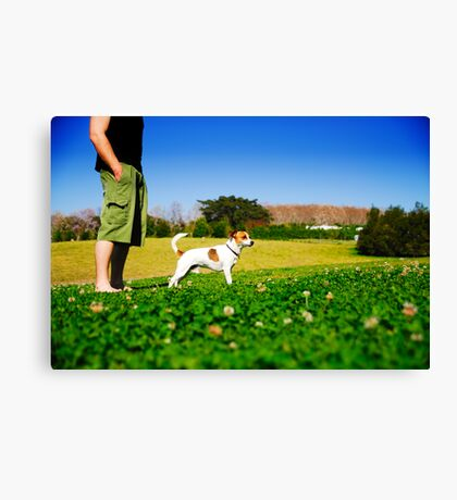 Like Father Like . . . Dog? Canvas Print