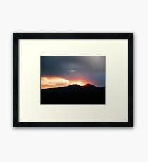 Prescott Sunset Framed Print