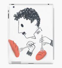 Baile de Chaplin con tenedores y pan Vinilo o funda para iPad