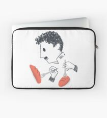 Baile de Chaplin con tenedores y pan Funda para portátil