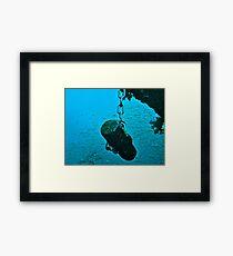 Shot on the Wreck. Framed Print