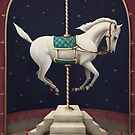 White  Horse,  who lost apples by Larissa Kulik
