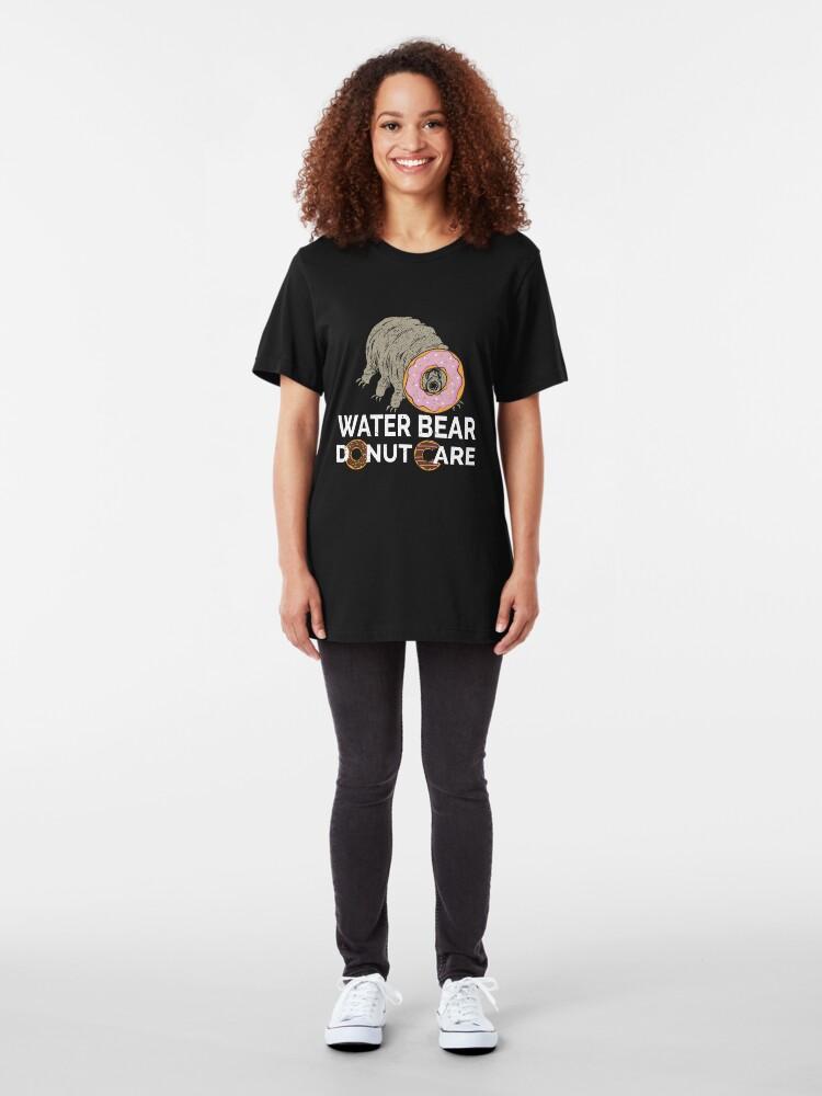 Alternative Ansicht von Water Bear Donut Care - Funny Micro-Animal Tardigrade Slim Fit T-Shirt