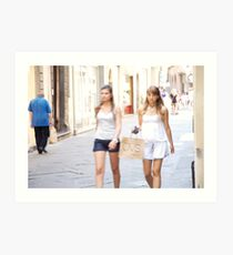 peoplescapes #222, girls, girls,   Art Print