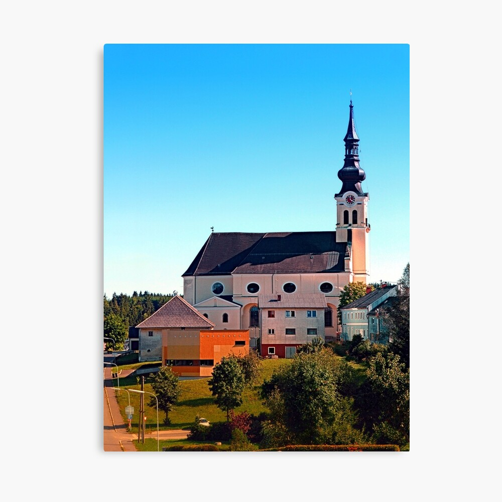 The village church of Reichenthal Canvas Print