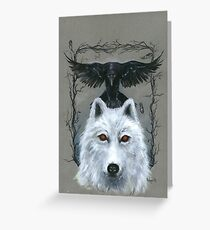 Ghost And The Three-Eyed Raven Greeting Card