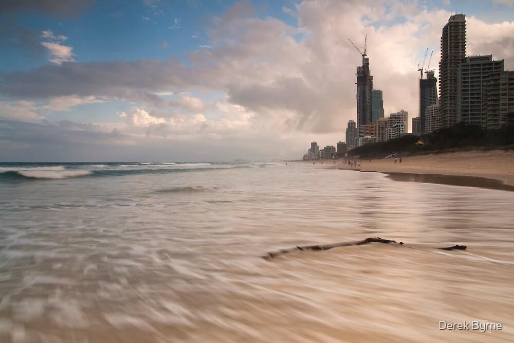 Surfers Paradise Beach by D Byrne