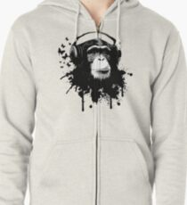 Monkey Business Zipped Hoodie