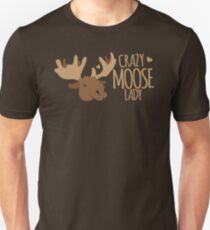 Crazy Moose Lady Slim Fit T-Shirt
