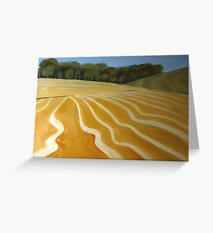 Patterns of the plow Greeting Card
