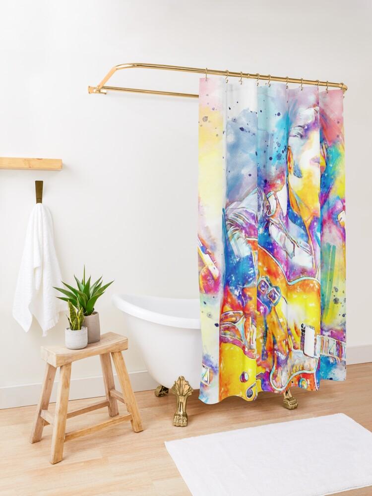 Alternate view of Elvis  Shower Curtain