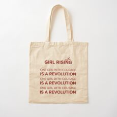 Girl Rising Cotton Tote Bag