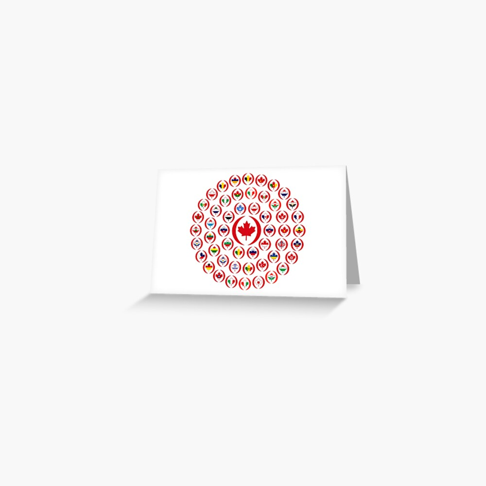 We Are Canada Multinational Patriot Collective  Greeting Card