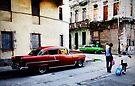 Street corner, early morning, Havana, Cuba by David Carton
