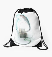Square in the wood Drawstring Bag
