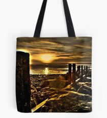 Golden Llanfairfechan Tote Bag