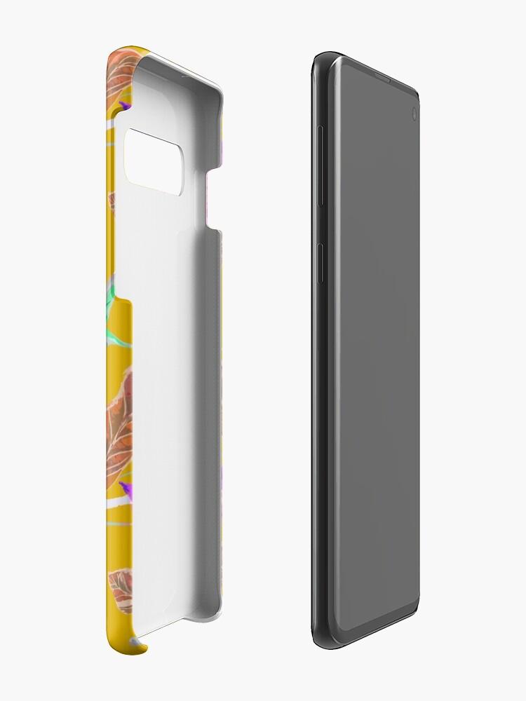 Alternative Ansicht von Kolibri und botanic Hülle & Klebefolie für Samsung Galaxy