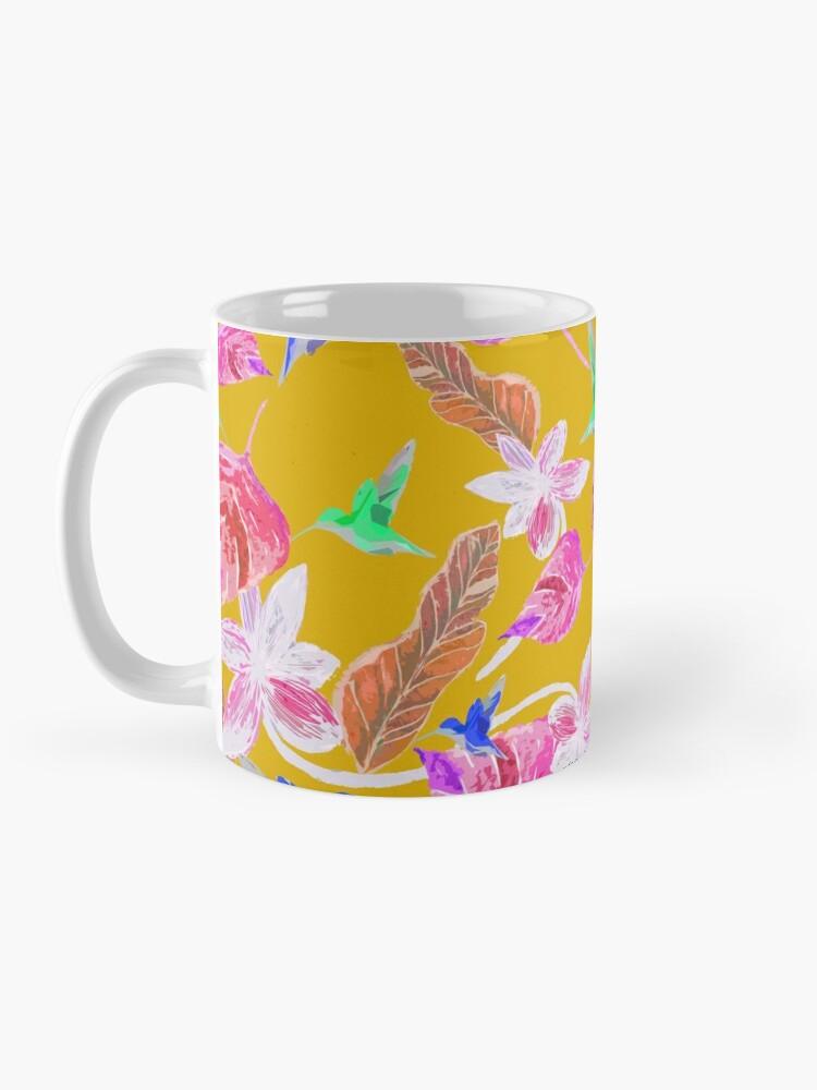Alternative Ansicht von Kolibri und botanic Tasse