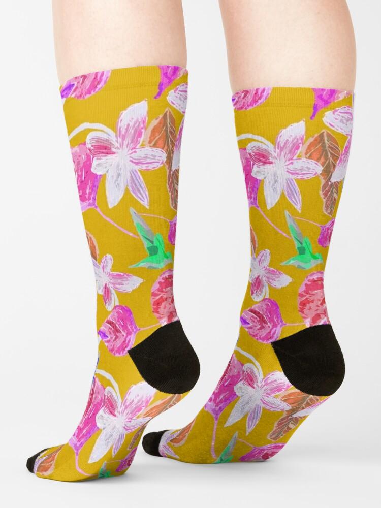 Alternative Ansicht von Kolibri und botanic Socken