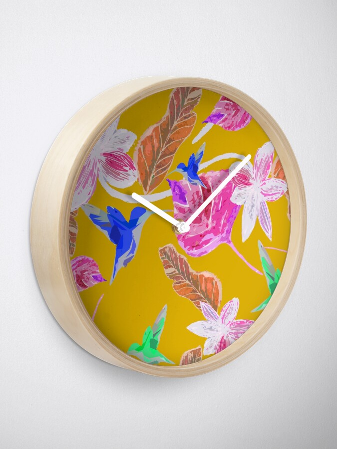 Alternative Ansicht von Kolibri und botanic Uhr