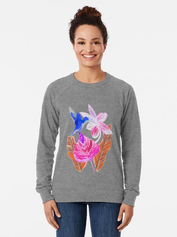 Alternative Ansicht von Kolibri und botanic Leichter Pullover
