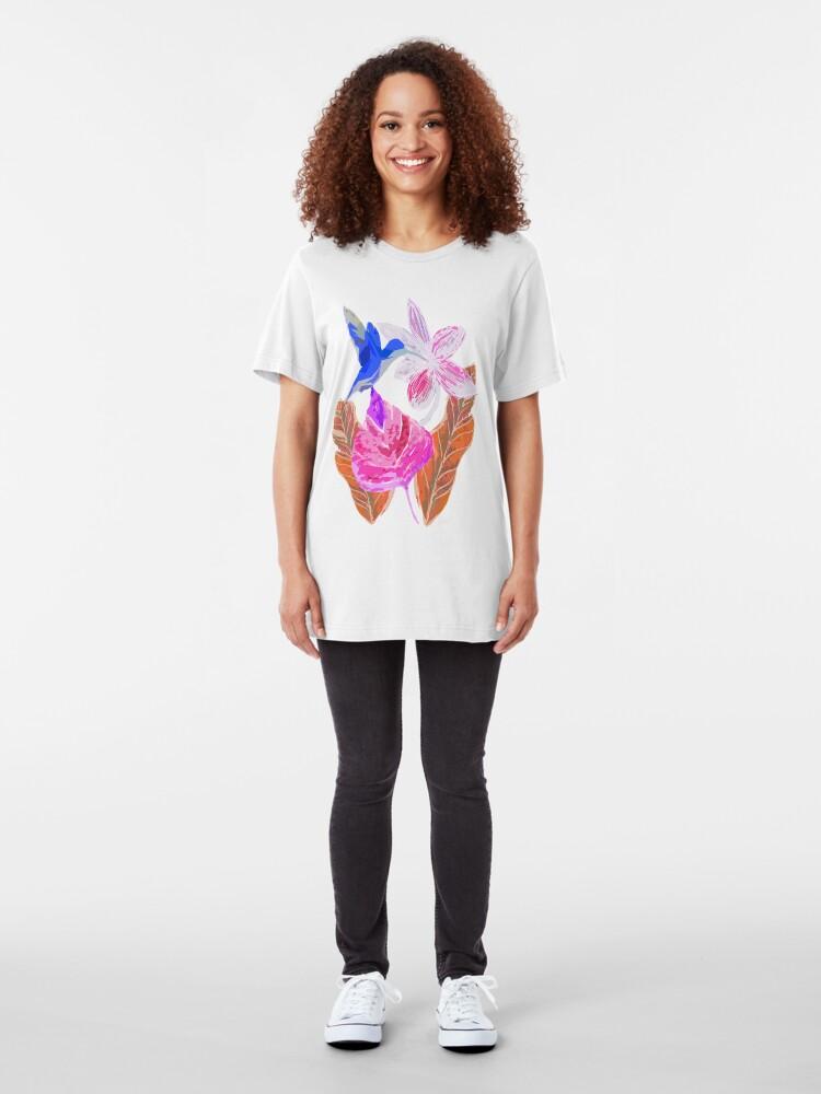 Alternative Ansicht von Kolibri und botanic Slim Fit T-Shirt