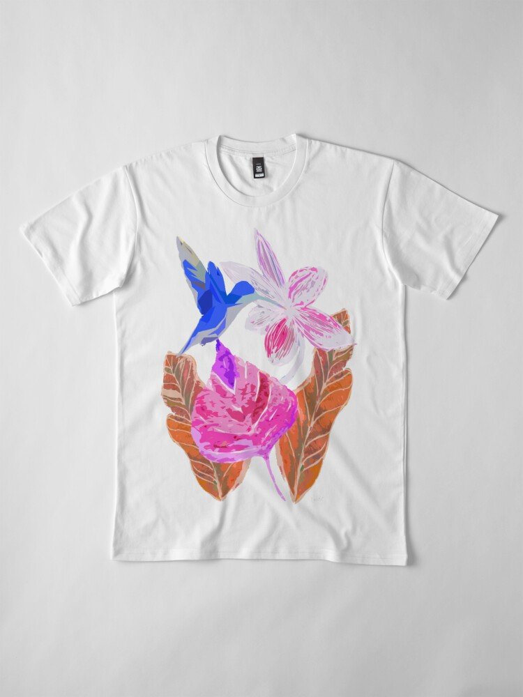 Alternative Ansicht von Kolibri und botanic Premium T-Shirt