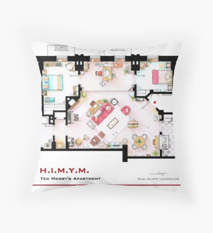 Ted Mosby's apartment from 'HIMYM' Throw Pillow