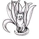 Neunschwänziger Fuchs   Kitsune von Nadine Schnabel