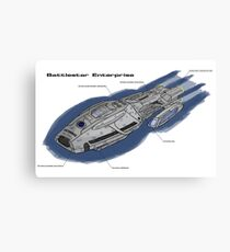 Battlestar Enterprise NX-1701-F Canvas Print