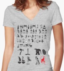 eygpt tshirt rogers bros construction  co  Women's Fitted V-Neck T-Shirt