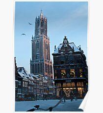 Winter in Holland - Dom Tower Utrecht Poster