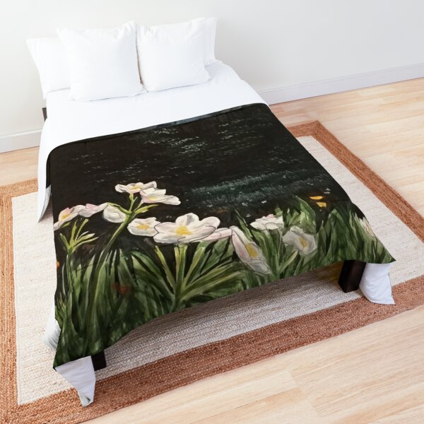 flowers in the night Comforter