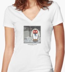 Scientist Dude Women's Fitted V-Neck T-Shirt