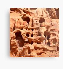 wheathered stone Metal Print