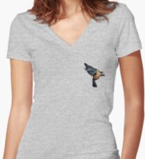 A Bird on the Heart Women's Fitted V-Neck T-Shirt