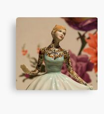 Tattooed Lady by Jessica Harrison at Banksy's Dismaland Canvas Print